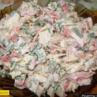 Крабовый салат с фасолью петрушкой и майонезом