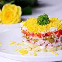 Салат болгарский перец ветчина