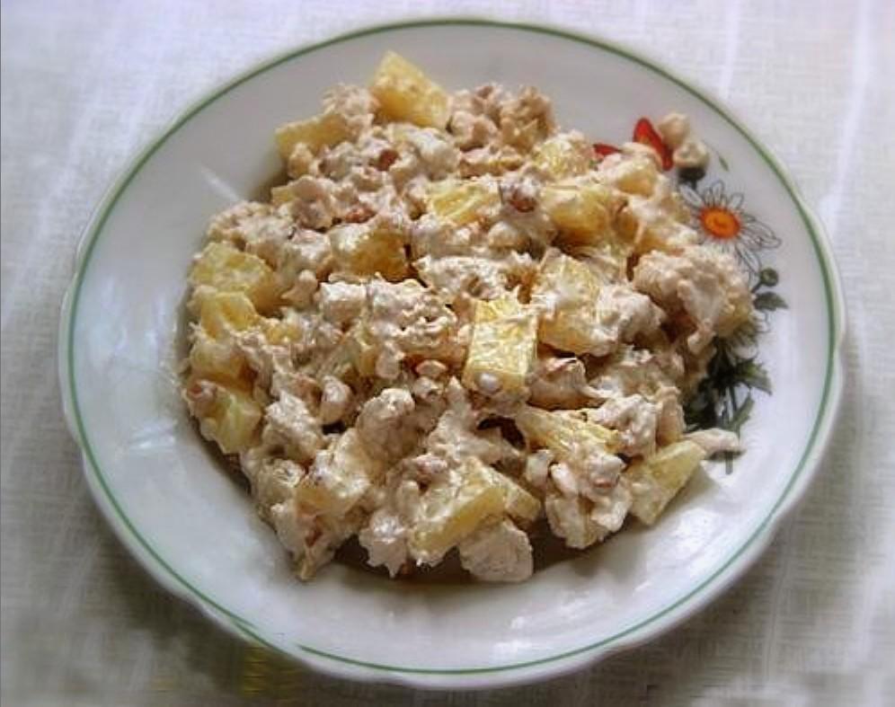 Салаты из курицы вареной рецепты