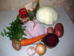 борщ вкусный рецепт с курицей