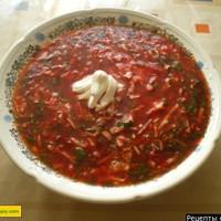 Борщ украинский с галушками