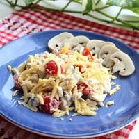 Салат Тосканский с куриным филе и грибами