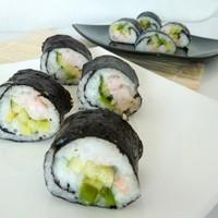 Домашние суши роллы с креветками