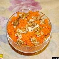 Салат из сырой моркови с грецкими орехами