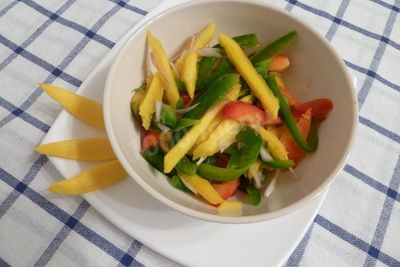 постный салат с манго рецепт