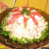 Салат крабовые палочки помидоры