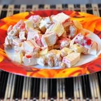 Салат крабовые палочки фасоль