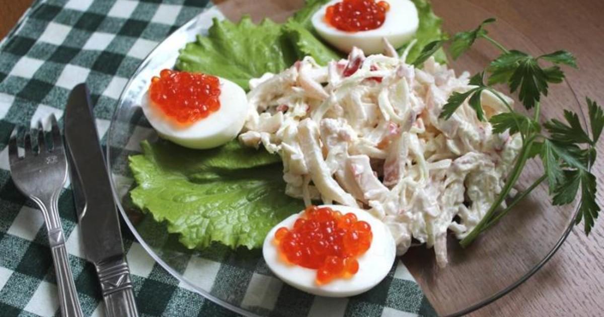 салат московский крабовые палочки и говядина рецепт с фото