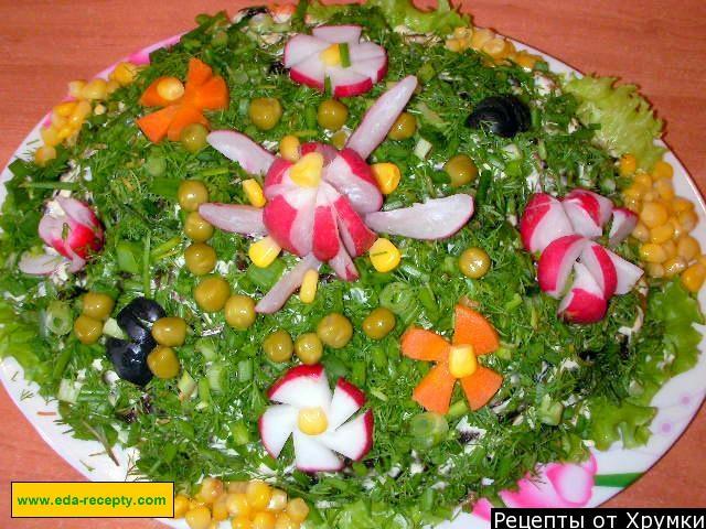 копченая куриная грудка рецепты салатов