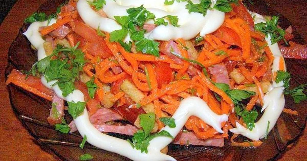 Салат под кайфом с колбасой рецепт пошагово
