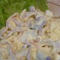 Салат кальмар яйцо сыр плавленый