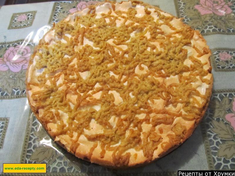 Вкусный песочный пирог с вареньем
