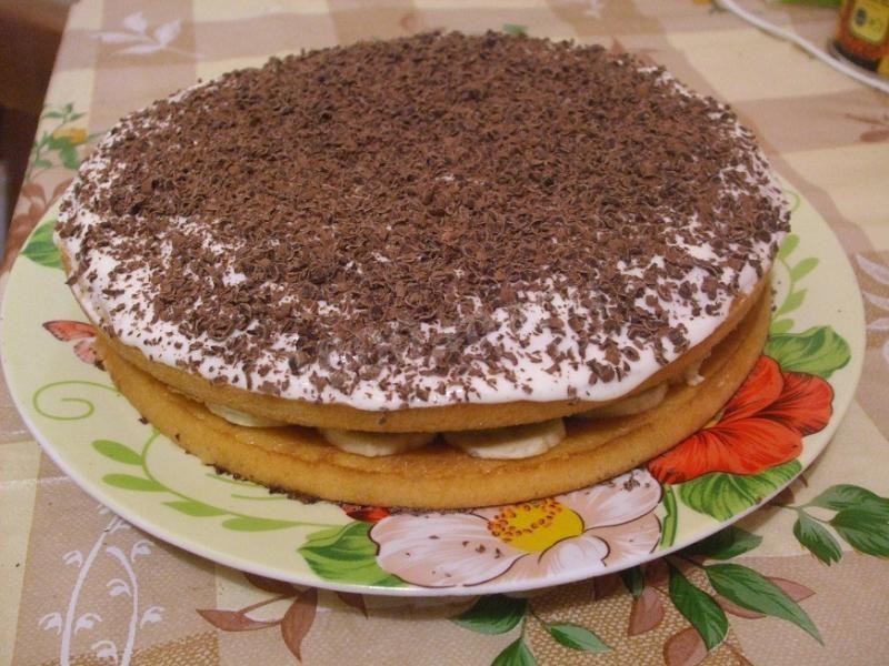 торт из коржей с фруктами готовых рецепт с фото