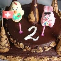Торт Сникерс с шоколадом и сгущенным молоком