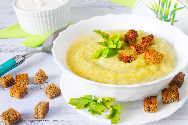 Суп пюре из цветной капусты и брокколи