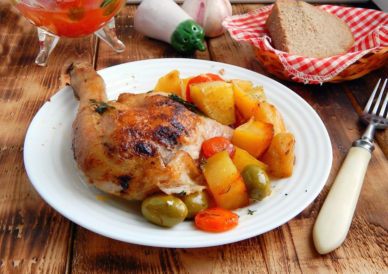 Картошка с курицей как запекать в картинках жук залетает