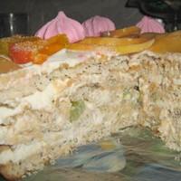 Быстрый торт творожно-фруктовый