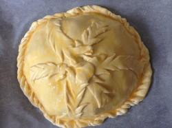 Курник из слоеного теста в духовке - рецепт пошаговый с фото