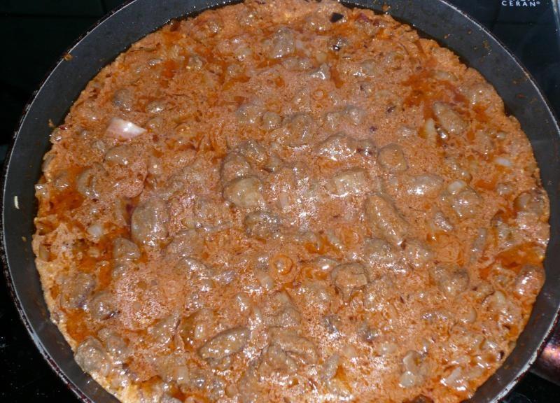 Рецепты с фото.куриная печень гуляшы