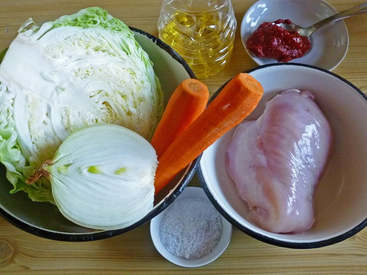 Шейки куриные,тушеные с капустой Кулинарный сайт