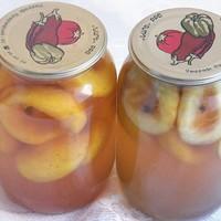 Консервированные персики в вине