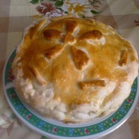 Слоеный пирог Курник с картошкой