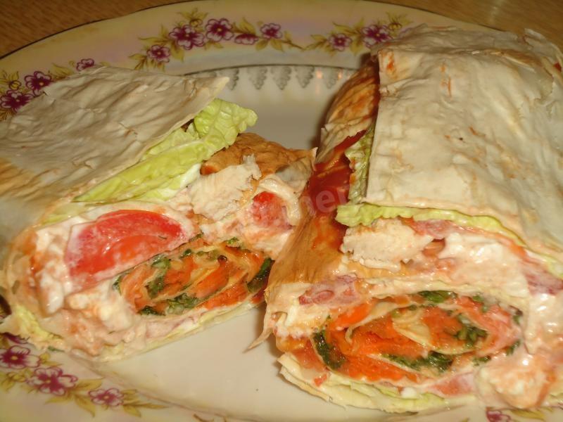 Закуска из лаваша рецепты пошагово с корейской морковкой и