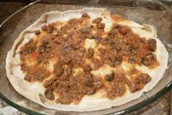 """Лазанья с куриным соусом """"а ля Болоньезе"""" и грибами, пошаговый рецепт с фото"""