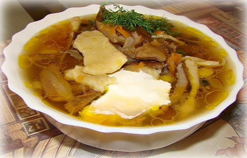 суп с сушеных грибов рецепт с фото пошагово
