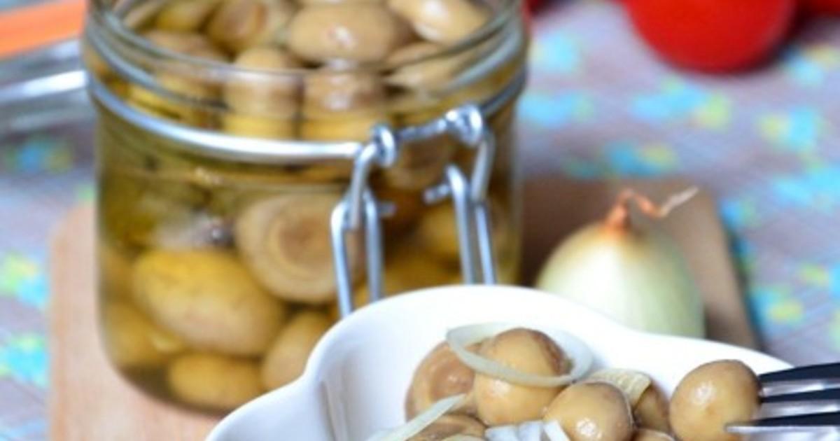 Маринованные шампиньоны рецепт пошаговое