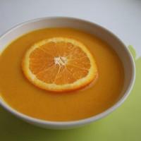 Морковный суп с имбирем и сливками