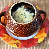 Тыква в горшочке с картошкой