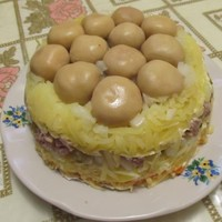 Вкусный салат Лукошко на день рождения