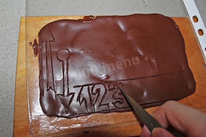 Как из шоколада сделать ворота 952