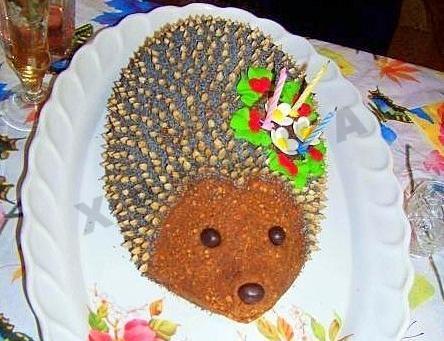 торт їжачок рецепт