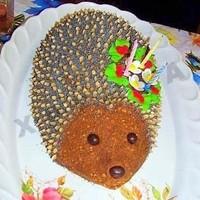 Торт Ежик без выпечки из печенья со сгущенкой