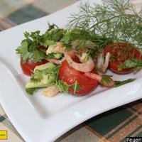 Салат из авокадо с креветками вкусный