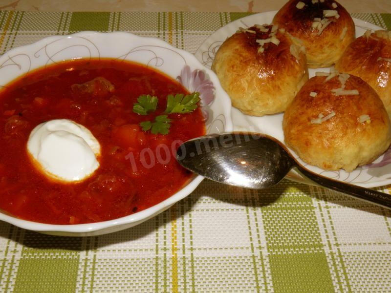 Борщ український рецепт з пампушками #5