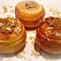Печеные яблоки в духовке с мюсли