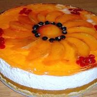 Фруктовый торт без выпечки с желатином и йогуртом