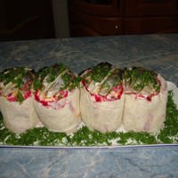 Салат с селедкой Бочонки