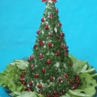 Сырный салат Новогодняя елка