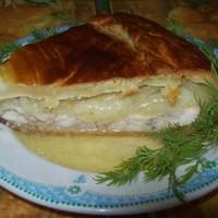 Татарский пирог с мясом и картофелем