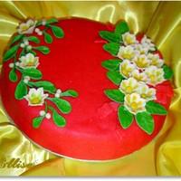 Торт Зимний цветок