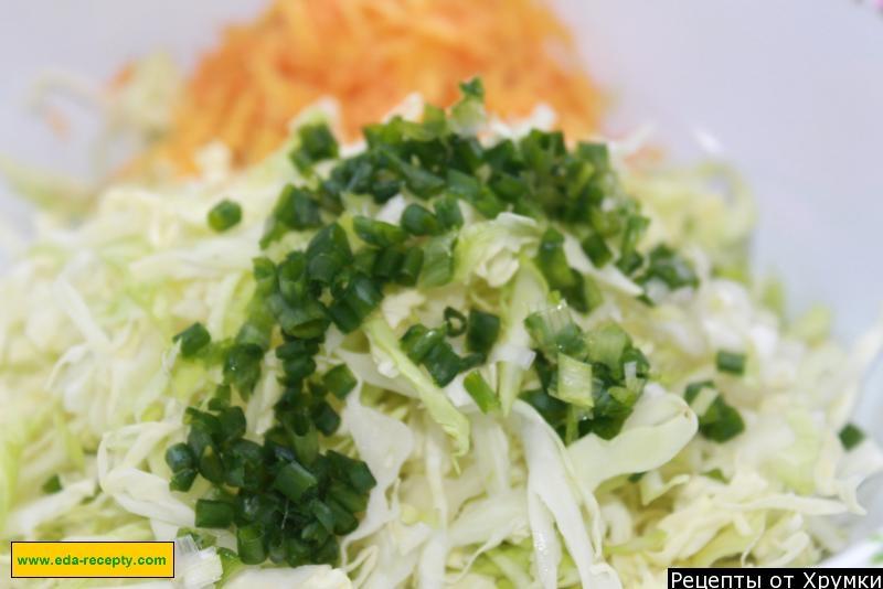 Калорийность салата из капусты моркови и огурцами
