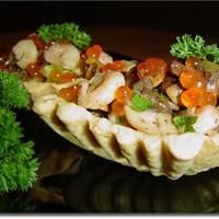 Порционный салат в тарталетках Калейдоскоп