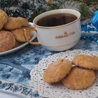 Новогоднее печенье творожное с курагой