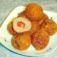Мясные шарики с помидорами черри