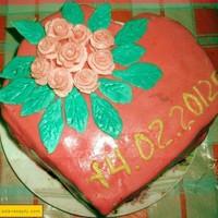 Торт на день Валентина для любимого