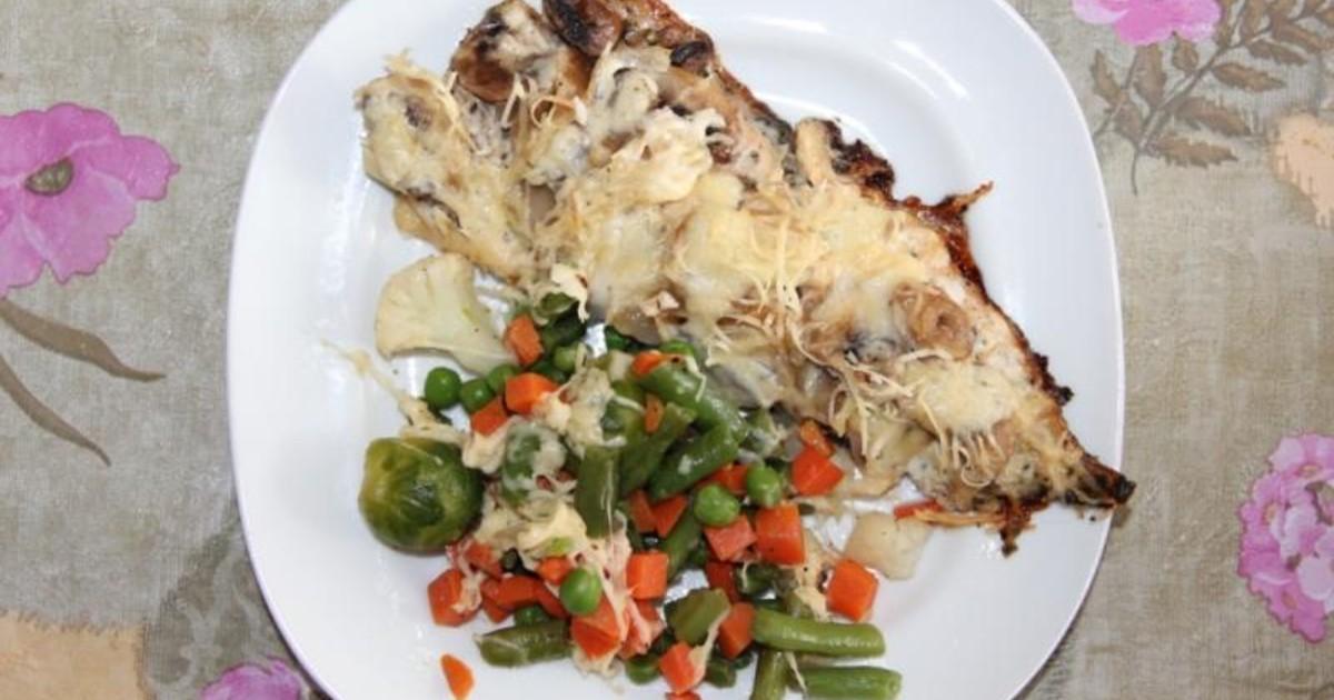 Пикша запеченная с грибами и сыром в духовке рецепт пошагово 115